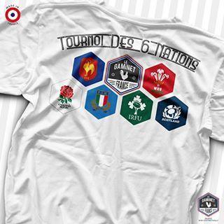 On prends déjà beaucoup d'avance en imaginant une version imprimée au dos pour le tournoi des 6 nations de rugby 🏉 Ça vous dit d'avoir le même avec le logo de votre équipe préférée côté cœur ? 😁 #legaminet #madeinfrance#tshirtfrancais #fabriqueenfrance #tshirt #rugby #france #angleterre #ecosse #irlande #italie #paysdegalles #melée #essai #drop #pénalités @FFRugby