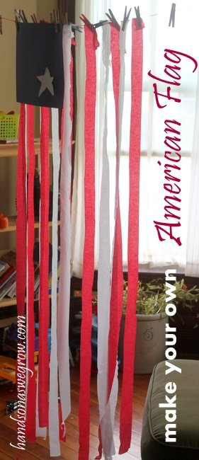 Make Your Own [Life-Size] American Flag Craft Activity for the 4th of July!