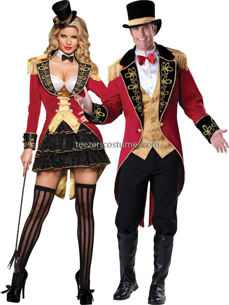 mens ringmaster adult costume for men at bargain prices free exchanges same day shipping if purchased by est guaranteed safe online shopping - Mens Couple Halloween Costumes