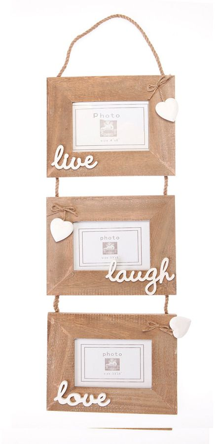 Sass & Belle 'live, laugh love' hanging multi aperture frame on shopstyle.co.uk