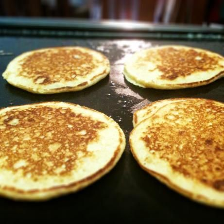 Tender Whole Wheat Yogurt Pancakes... I would never have guessed these were whole wheat! So good!