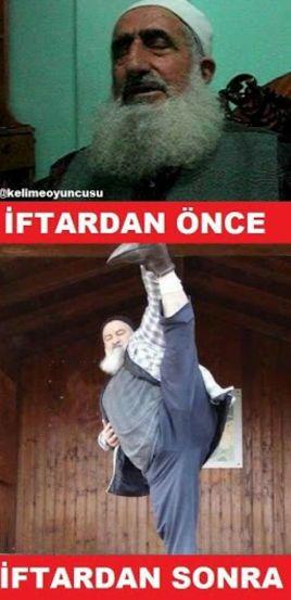 İftardan önce. İftardan sonra. :)  #mizah #matrak #komik #espri #ramadan #caps