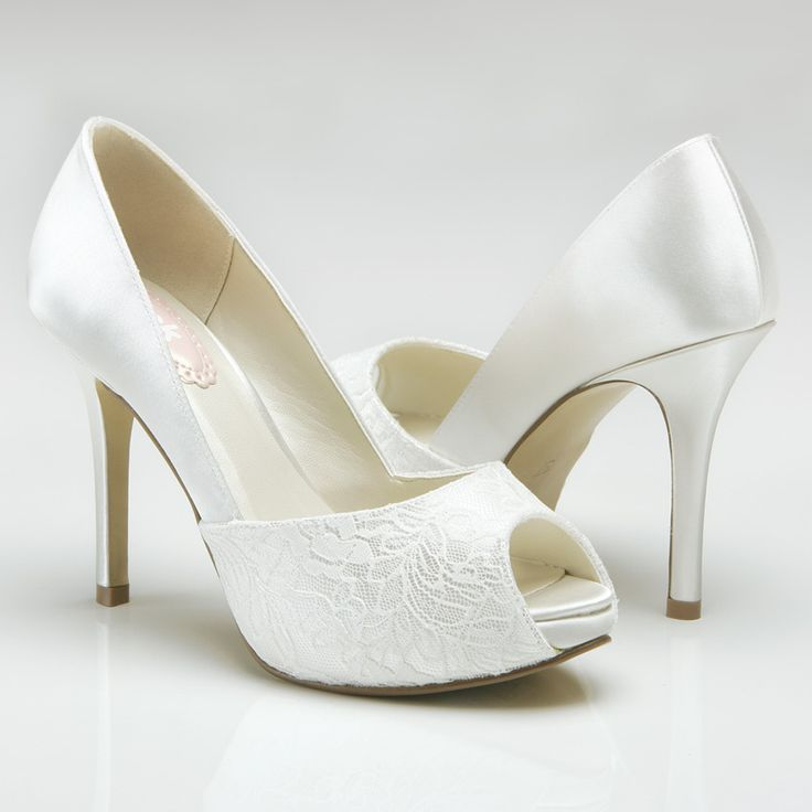 Blush Bridal - Fancy Dyeable Satin Open Toe Shoes, $85.00 (http://www.loveblushbridal.com/fancy-dyeable-satin-open-toe-shoes/)