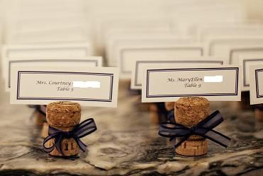 DIY Champagne cork name cards!