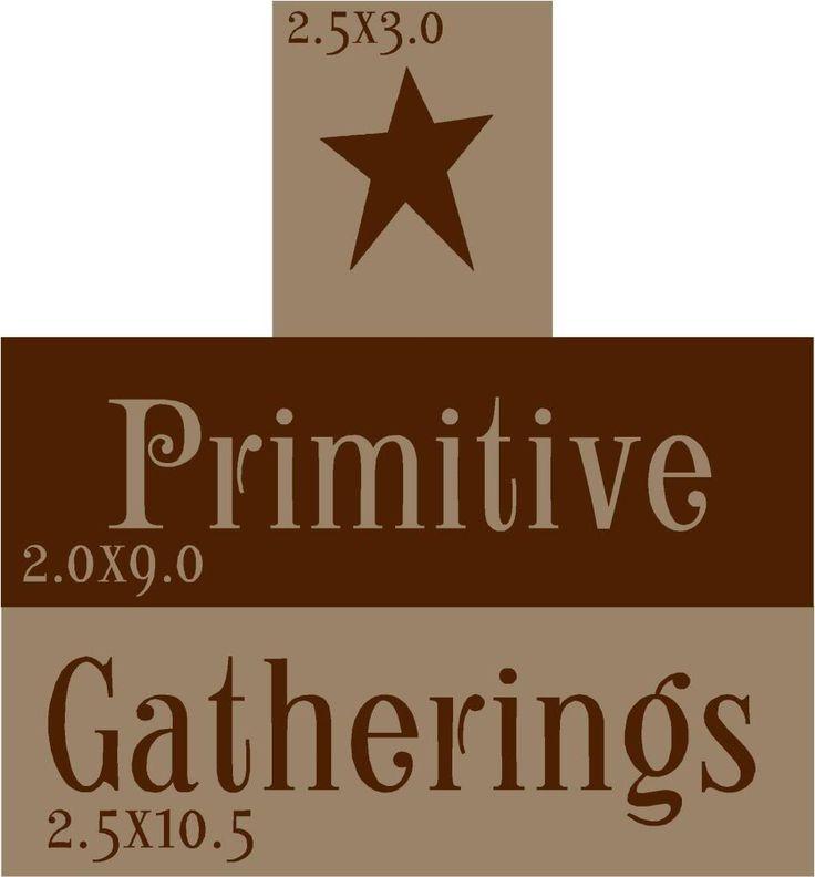 Free Primitive Stencil Designs   PRIMITIVE GATHERINGS STAR STENCIL BLOCK SET