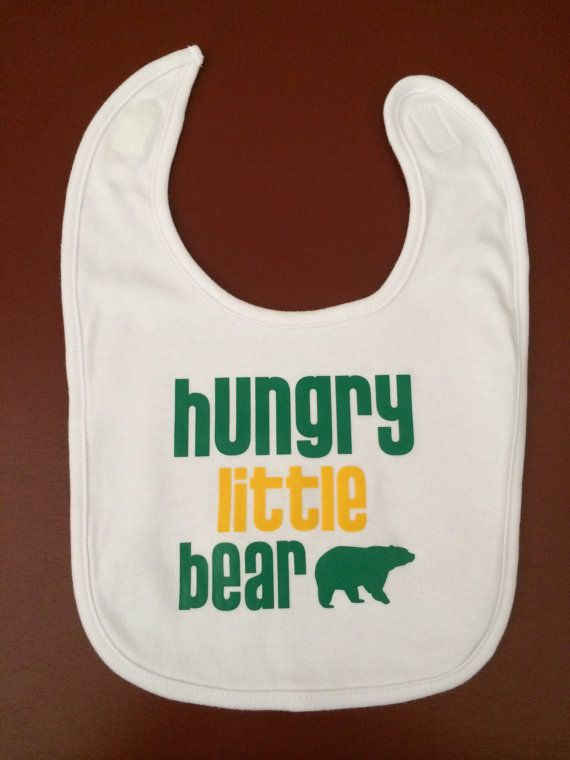 "#Baylor Bib - ""Hungry Little Bear"" by Kris10sCrafts on Etsy, $9.00"