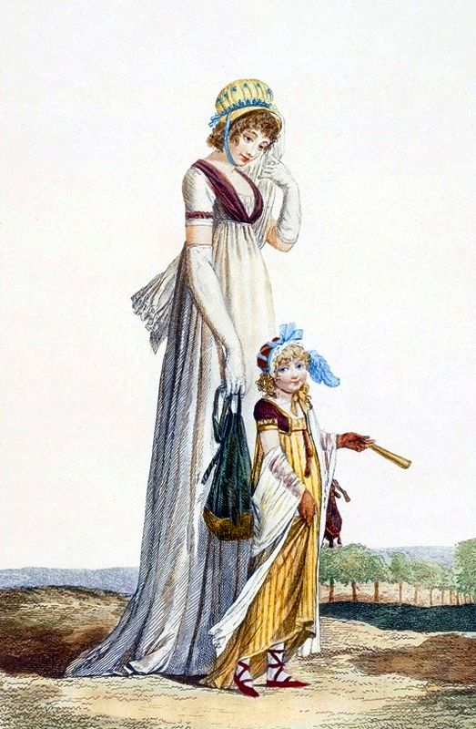 Young mother and child, 1800 (Philibert Louis Debucourt engraving)