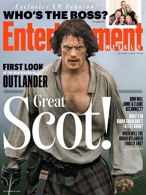 Entertainment Weekly First Look Outlander Sam Heughan October 7 2016 GREAT SCOT! | eBay