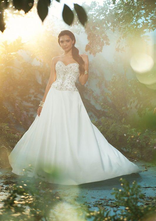 Princess Jasmine wedding dress, from the Disney's Fairy Tale Weddings by Alfred Angelo - Style 222 #wedding #dress #princess