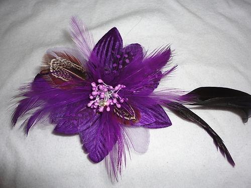 flower feather purple