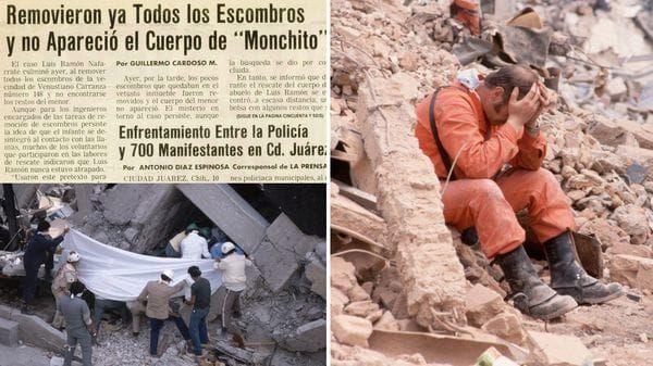 Como el caso Frida Sofía en el terremoto de 1985 también hubo un niño fantasma: Monchito