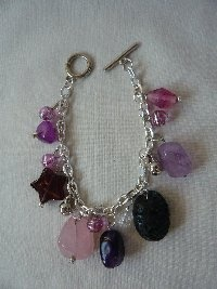 'Purple Mist' Charm Bracelet.