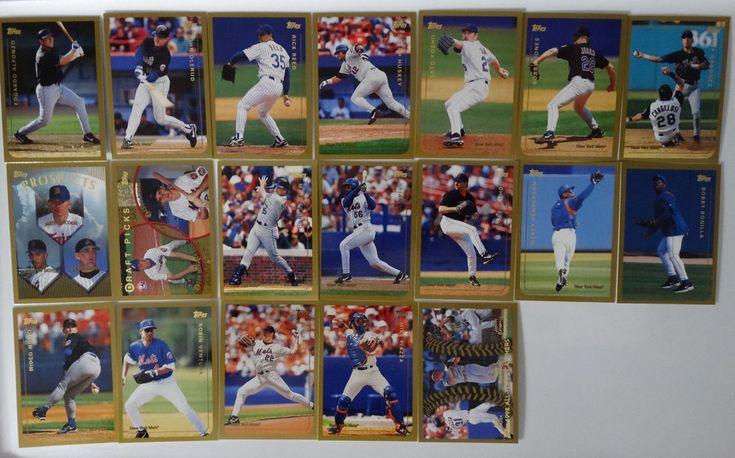 1999 Topps New York Mets Team Set of 19 Baseball Cards #topps #NewYorkMets