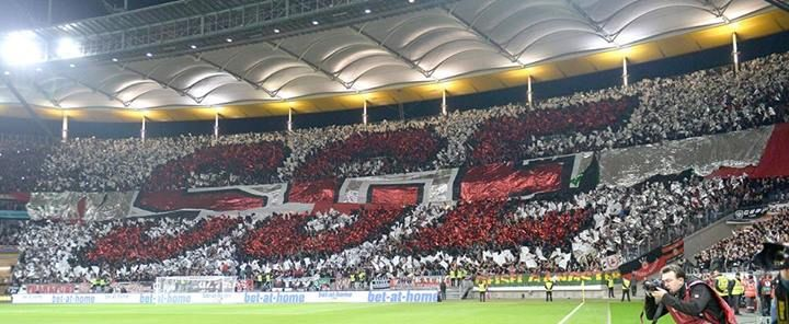 Choreo Eintracht Frankfurt - Euro League 2013/14 SGE-Maccabi Tel Aviv