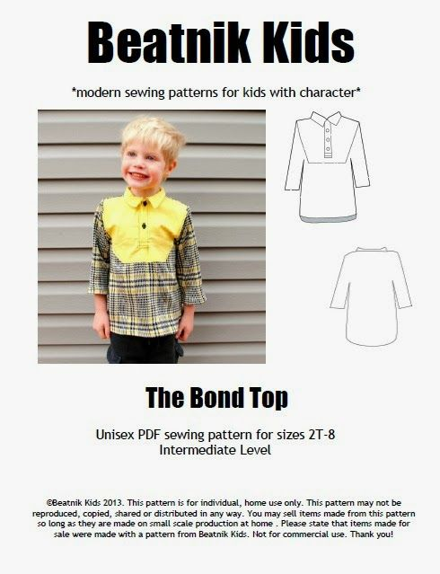 Boy, Oh Boy, Oh Boy!: Introducing Beatnik Kids and The Bond Top Pattern Release