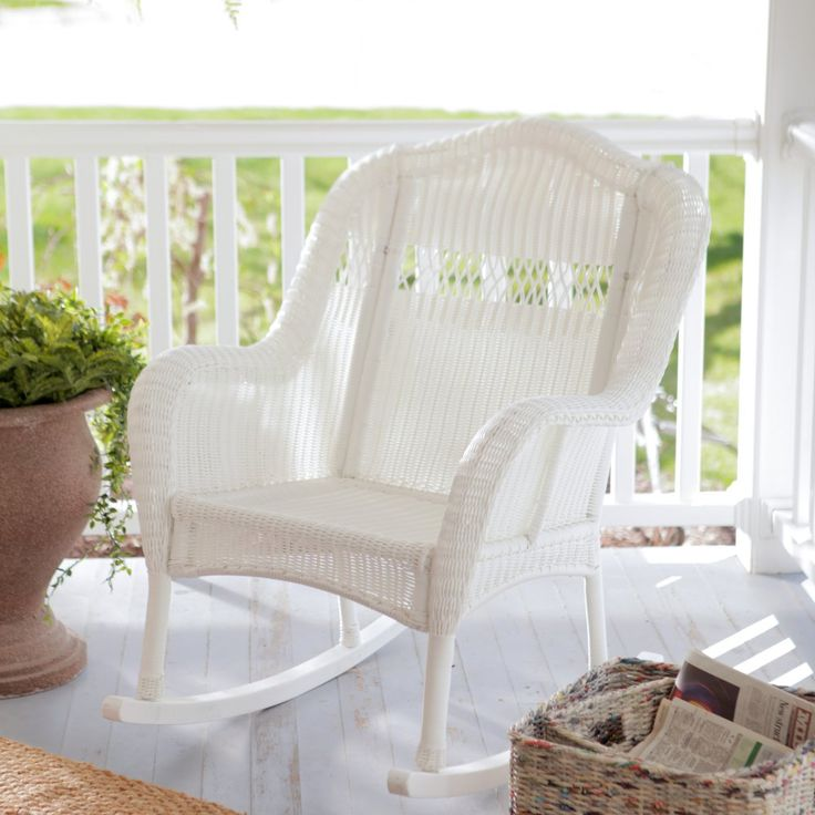 coral coast casco bay resin wicker rocking chair outdoor rocking chairs at hayneedle
