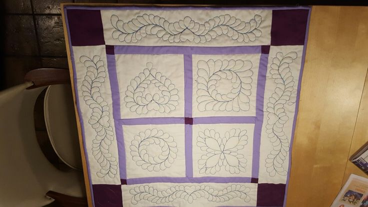 Machine quilting sampler from class I took