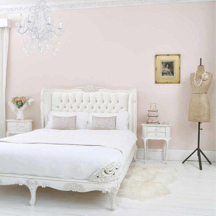Provencal Ivory Velvet Upholstered Bed (King). French BedroomsGirl ...