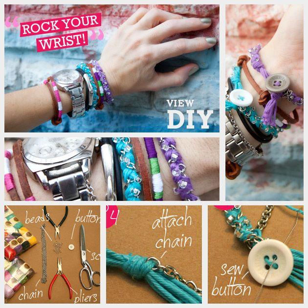 @Stefanie Olinares  Join the Arm Party!! DIY Bracelets in Bonbons Feature via trinketsinbloom.com!