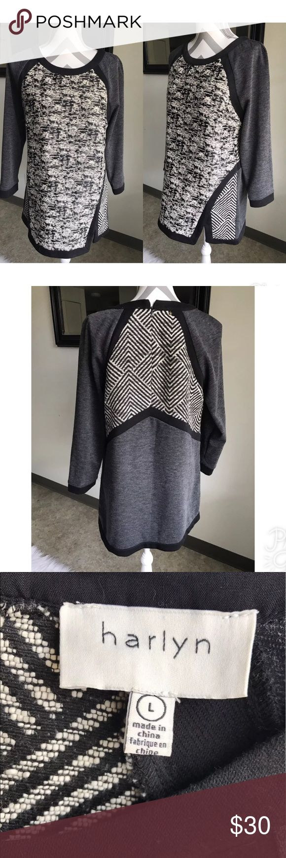 Anthropologie Harlyn Adelaide Black Tunic dress Anthropologie Harlyn Adelaide Pullover Black Motif  Tunic Top $88 SZ L great condition Anthropologie Tops Tunics