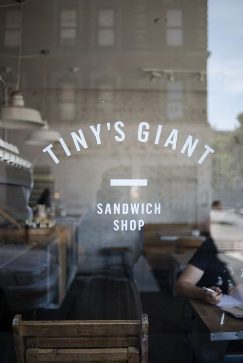 Tiny's Giant, NYC: New York Cities, Shops Window, Tiny Giant, Cafe, Sandwiches Shops, Front Window, Restaurant, Giant Sandwiches, Shops Front