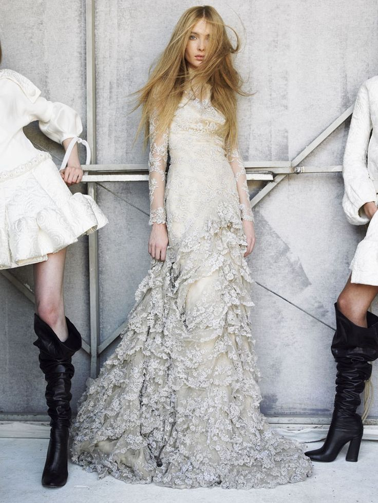 mario testino - I actually really love this dress! I wanna see what the top and back looks like though.