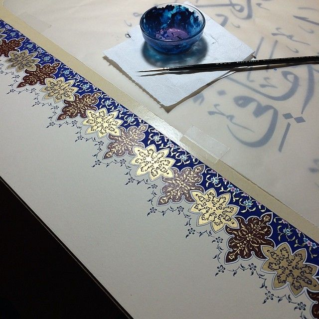 #workinprogress  #illumination #tezhip #art #artwork #mywork #handmade #traditionalart #istanbul #turkey #dilarayarcı