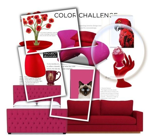 """Vermelho e Rosa!"" by thais-santana-1 ❤ liked on Polyvore featuring interior, interiors, interior design, home, home decor, interior decorating, Ceets, Sur La Table, Rodeo Home and iCanvas"