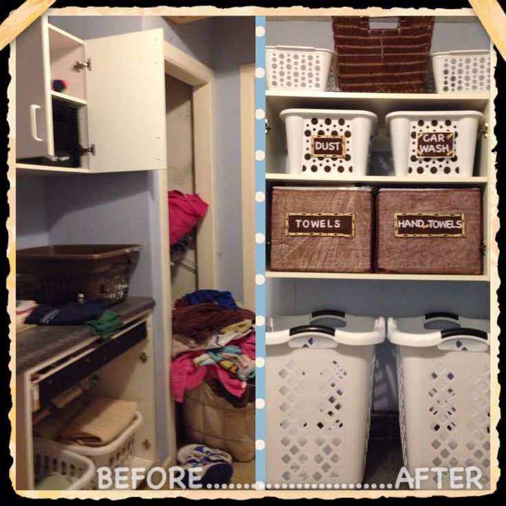 Created my own storage bins using plastic milk crates I collected from cafeteria. Wrapped crates in old mattress cover pad & burlap. Made labels with felt / felt letters and cute mini clothes pins (purchased at Walmart). Total cost: $< $15.00