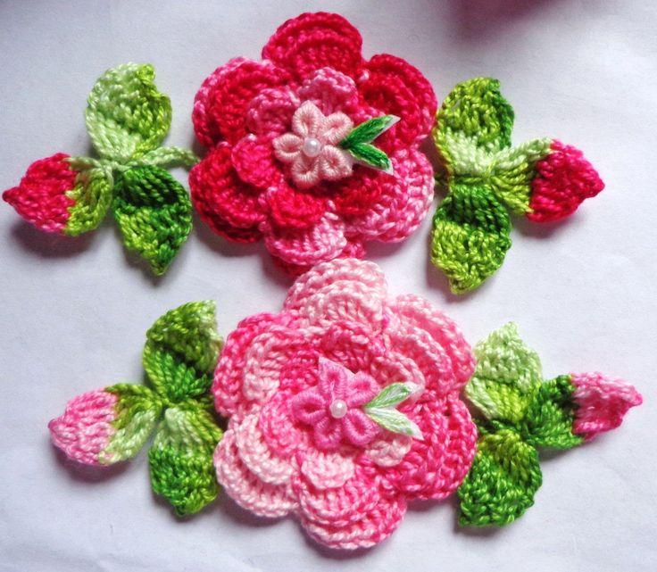 DIY Rosa invertida de crochê - faça você mesma                              …