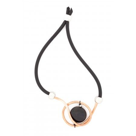 Necklace entirely handmade in copper, polyurethane and plexiglass…