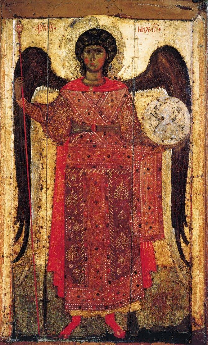 Arhangel Mihail iz Jaroslavlja, ikona nastala oko 1300. godine. Foto: Wikimedia Commons/icon-art.info