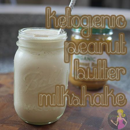 This #LowCarb, #Keto Peanut Butter Milkshake will fuel you up and keep you full! #sugarfree #lchf