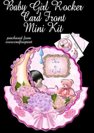 Baby Girl Rocker Card Mini Kit on Craftsuprint - Add To Basket!