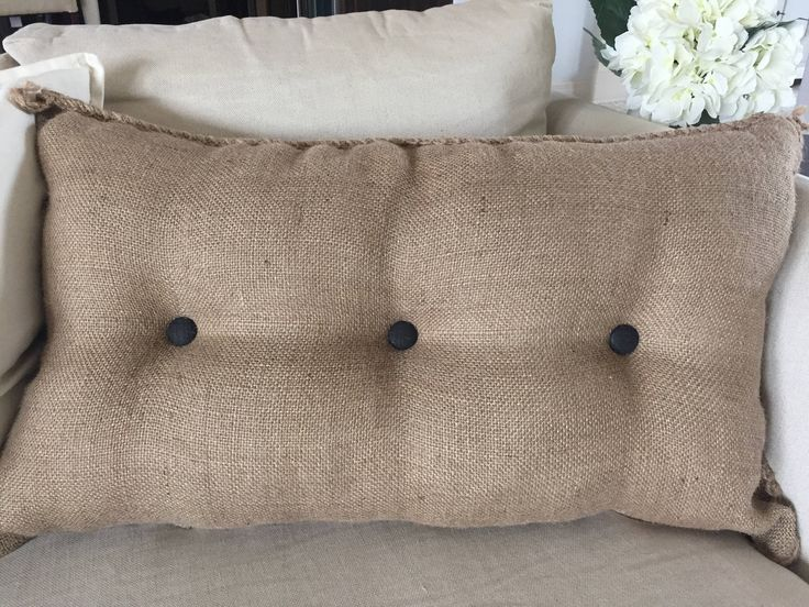 Farmhouse Burlap Couch/Bed Pillow Case, Coffee Jute Sack, Feed Sack, 16x26 Farmhouse Pillow, Rustic Bed Pillows, Vintage Pillow by EclecticHomeMarket on Etsy https://www.etsy.com/listing/525643515/farmhouse-burlap-couchbed-pillow-case