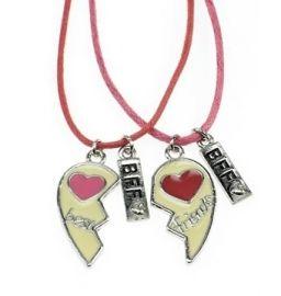 Best Friend vriendschapsketting met hart hangers