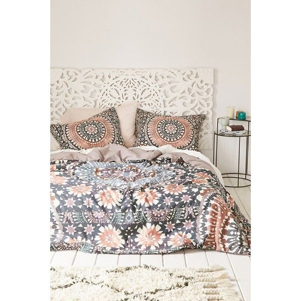 Magical Thinking Moroccan Tile Duvet Cover ($129) ❤ liked on Polyvore featuring home, bed & bath, bedding, duvet covers, multi, king duvet insert, twin xl bedding, bohemian bedding, king size duvet insert and king size bedding