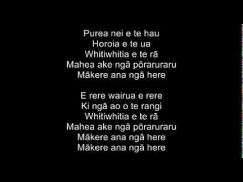Purea nei e te hau - Scattered by the wind Horoia e te ua - washed by the rain Whitiwhitia e te ra - and transformed by the sun Mahea ake nga poraruraru - al...
