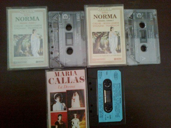 Maria Kallas Norma cassettes and arias from operas La by Mpoulitsa