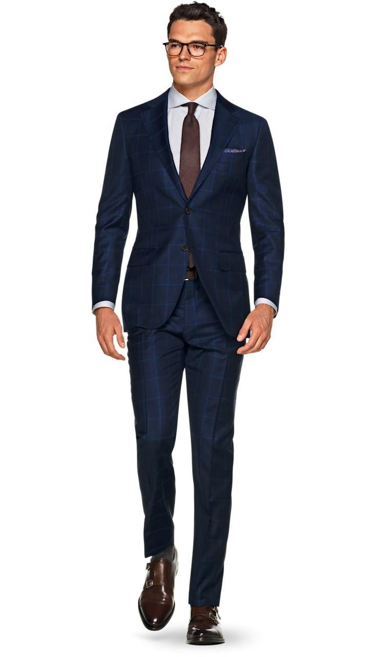 Suit Blue Check Lazio P5292 | Suitsupply Online Store