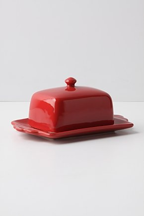 Anthropologie Tea And Toast Butter Dish. I collect Anthro butter dishes and this is one of my favorites!