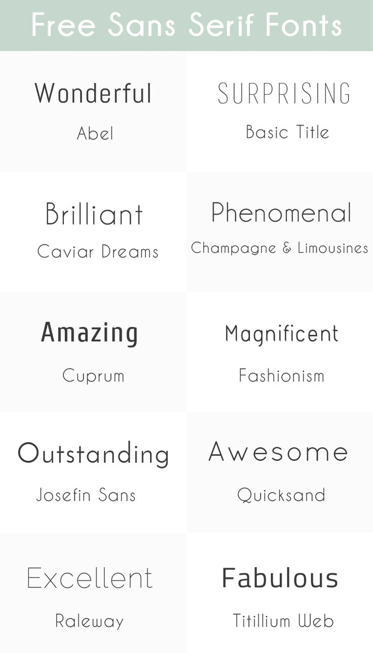 10 free sans serif fonts for personal or commercial use. Desktop and web fonts included.