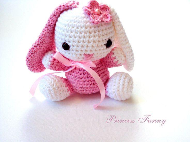 Bunny stuffed animal,crochet bunny,handmade toys,crochet amigurumi animal,boys,girls,shower gift,birthday gift by PrincessFunnyShop on Etsy https://www.etsy.com/listing/503821662/bunny-stuffed-animalcrochet