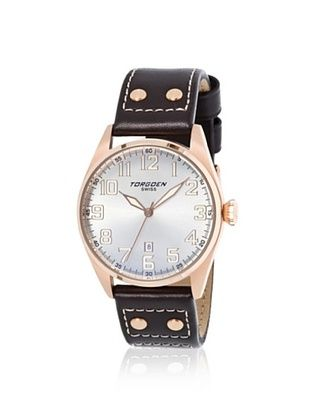 Torgoen Men's T28104 Brown/Silver Stainless Steel Watch