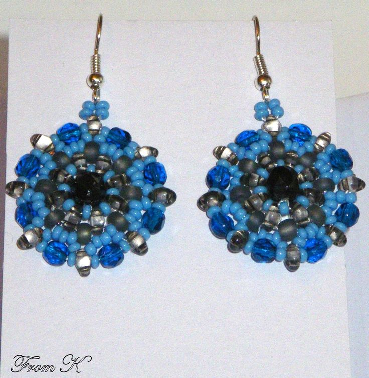 """stylish earrings sophisticated enough for formal occasions and fun enough for casual time. 3 cm long. Czech seed beads and special """"twin"""" beads are used here. For more visit FB page https://www.facebook.com/media/set/?set=a.252208948138744.80864.246629745363331&type=3"""