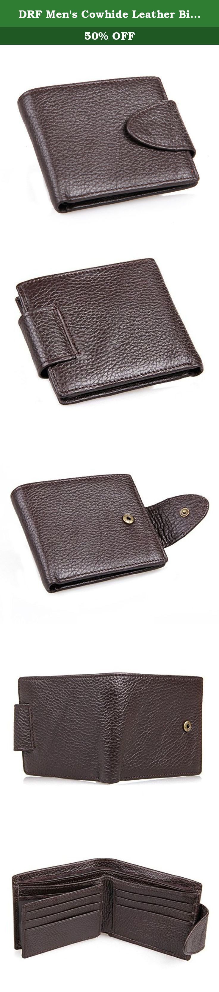 DRF Men's Cowhide Leather Bifold Wallet Blocking Snap Button Clasp BG-51 (Brown). DRF wallets are the perfect wallet for the everyday man. they are made of leather and with quality that will last as long as you want to carry it. .