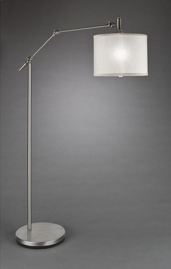 Brushed nickel floor lamp ikea nazarmcom for Hyatt nickel 6 light floor lamp replacement shades