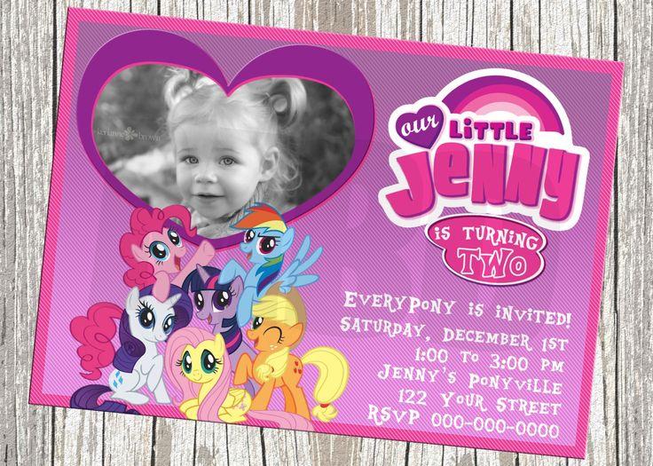 My Little Pony Birthday Invitations Personalized