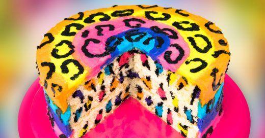 Aprende a hacer un delicioso pastel de animal print con este video