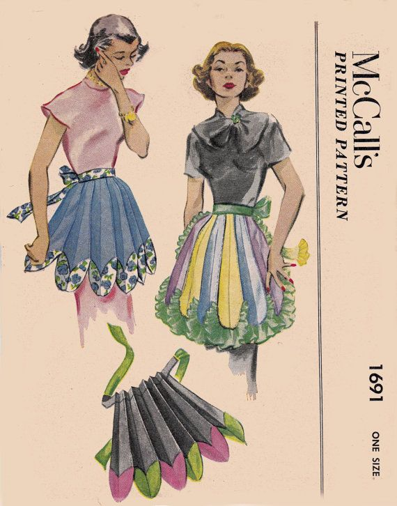 50s Novelty Flower Petal Apron Pattern by allthepreciousthings, $45.00